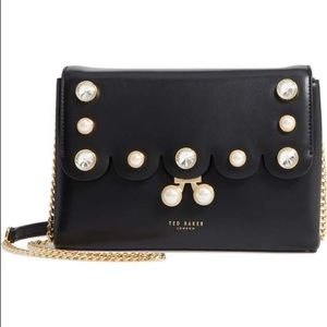 NWT Ted Baker scalloped leather pearl Saraa bag
